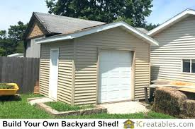 O 6 Wide Garage Door Shed With  Built In