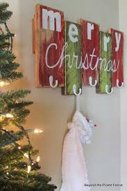 Scrap Wood Stocking Hanger. DIY homemade Christmas decorations .