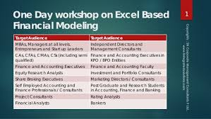 Excel Based Financial Modeling Revsch