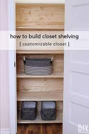 how to build closet shelving diy