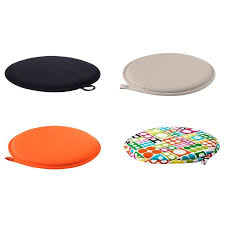 Round Seat Cushions Ikea Round Designs Round Chair Pads In Chair