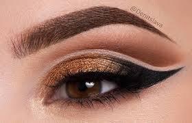 eye makeup for um brown eyes 4 gold eyeshadow