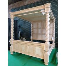 stunning home office warm solid oak. Tudor Style Four Poster Bedframe With Solid Roof ~ Oak Wood Stunning Home Office Warm E