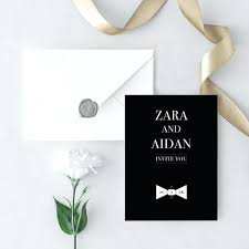 Black Tie Wedding Invitations Cafe322 Com