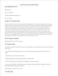 免费project Finance Associate Resume Sample 样本文件在