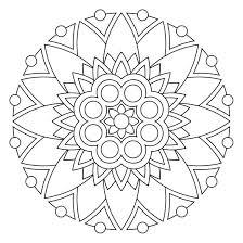 coloring pages mandala easy 2089875