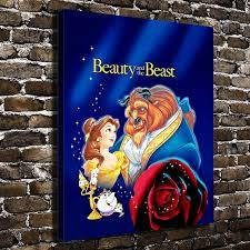 a970 beauty and the beast children cartoon hd canvas print home decoration living room