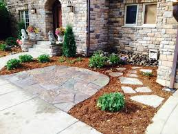 natural stone permeable patio garden mulch beds mulch washing away drainage solution for patio