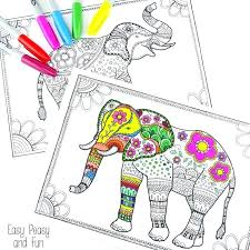Elephant Coloring Page Elephant Coloring Page Elephant Coloring