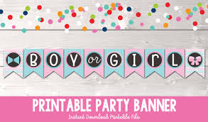 baby shower banners gender reveal party printable shower banner erin bradley ink