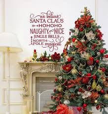 Christmas Decorations For The Wall We Believe In Santa Christmas Decorations Wall Decals By