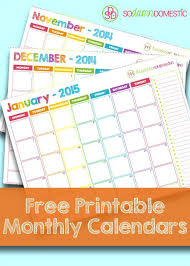 Free Printable 2015 Monthly Calendar Template Monthly Calendar Excel ...