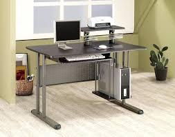 desk back to modern computer desks glass computer desk with pullout keyboard tray black metal