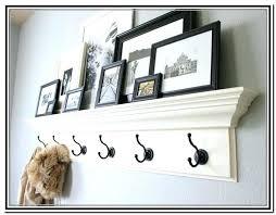 wall coat rack with shelf wall coat rack with shelf view larger coat racks black wall