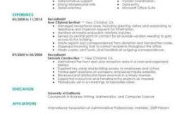Resume For A Receptionist Free For You Medical Receptionist Resume