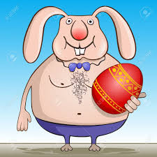 Cool Easter Bunny. Illustration Of The Easter Hare. Easter Bunny ...