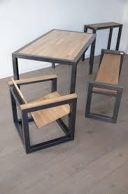 steel furniture designs. coup du0027il sur les meubles hewel mobilier en bois et mtal mlange de steel furniturewooden furnitureindustrial tabledesign furniture designs