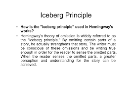 hemingway iceberg principle the old man the iceberg theory and the  in another country hogangreatgatsby focusky either scripts and active content are not permitted to run or hemingway iceberg