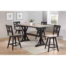 5 piece sand and black counter height dining set orlando rc willey furniture
