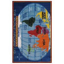 la rug supreme kids world map multi colored 5 ft x 8 ft