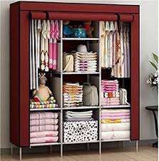 rot iron furniture. Continental 6 + 2 Shelves 3 Door 88130 Maroon PP Collapsible Wardrobe Rot Iron Furniture