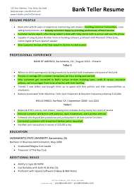 Bank teller resume customer service highlights