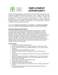 Assistant Cover Letter Sample Research Cover Letter Clinical Research Assistant Cover Letter The
