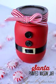Santa Painted Mason Jar - The Ribbon Retreat Blog
