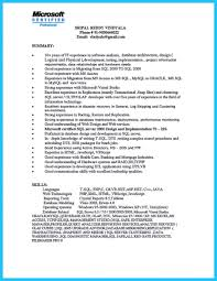 Oracle Dba Resume Samples Sample Junior Format For Experienced And I