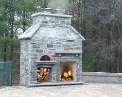 image of outdoor fireplace with oven kits