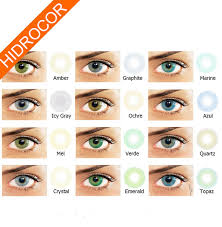 Contact Lenses Colour Chart Amber Hidrocor Colored Contact Lenses