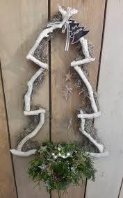 Super Leuke Kerstboom Voor Aan De Voordeur Gemaakt Van Een Metalen
