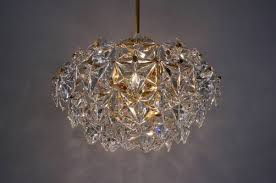 kinkeldey chandelier faceted crystals gilt 1970 s ca german