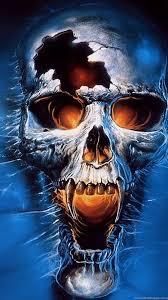 blue skull wallpapers widescreen hd