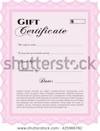 Retro Gift Certificate Template Beauty Design Stock Vector Royalty