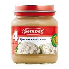 Детское питание <b>Semper Цветная капуста</b> | Отзывы покупателей
