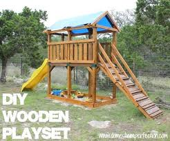 and staining with flood wood domestic imperfection plans diy playground free playhouse backyard how to build