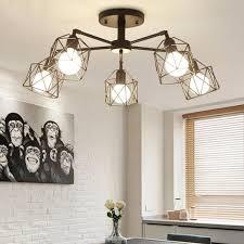 indutrial ceiling light 220v 5 heads living room saloon chandelier lighting