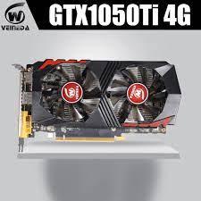 Ekran kartı GTX1050Ti bilgisayar grafik kartı PCI E GTX1050Ti GPU 4GB  128Bit 1291/7000MHZ DDR5 nVIDIA geforce oyun Grafik Kartları