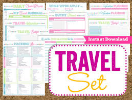 vacation budget planner instant download travel printables vacation planner 14 pdf