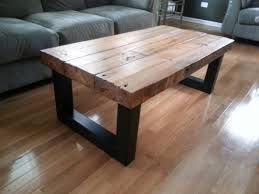 Furniture, Black Coffee Table Legs Metal Design Ideas With Brown Rectangle  Unfinished Wood Top For ...