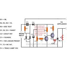 simple mains voltage surge protector circuit diagram