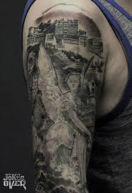 Tetování Od Krku K Rukávu Foto ženské A Mužské Tetování Bez Rukávů