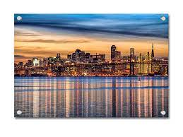 Garnish your home with an array of san francisco giants wall signs, canvas, and more. San Francisco City Scape Acrylic Wall Art Canvas Bubble