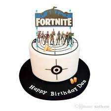 New Design Fortnight Game Decoration Happy Birthday Cake Flag