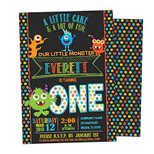 Email Invitations Interesting Amazon Chalk Monster Invitations Boy Birthday 44st 44nd 44rd Handmade
