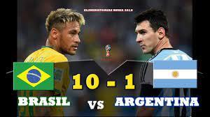 ملخص مباراة البرازيل و الارجنتين 10-1 افضل مباراة في تاريخ كرة القدم