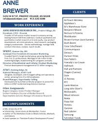 Resume Anne Brewer Research