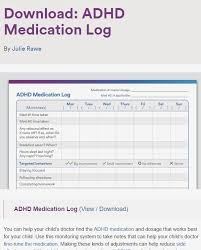 Adhd Medication Chart Pin On Adhd In Young Children