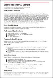 It Teacher Resume Drama Teacher Cv Sample Myperfectcv